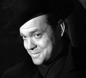 My favourite shot of Welles as I believe that smile and those eyes tell me everything I need to know about the man