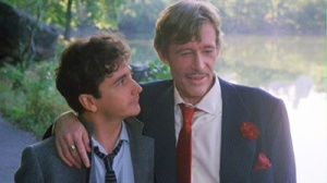 Benjamin Stone stares lovingly at his idol and now friend Alan Swan
