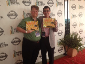 Me sharing the red carpet with friend and writer Larry Shulruff.