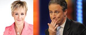 "One of these people is a ""serious journalist"" (Wendy Mesley; Jon Stewart)"