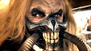 Immortan Joe (Hugh Keays-Byrne) is Leader of the Pack and universal sperm donor