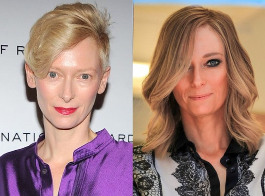Tilda Swinton and Tilda Swinton