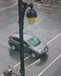 Off-site parking can make checking in a chore in bad weather