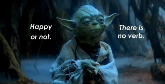 Happy yoda
